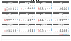 Free Printable 2022 Yearly Calendar