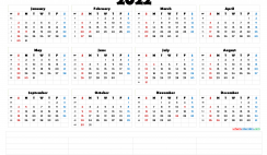 2022 Calendar with Week Numbers Printable